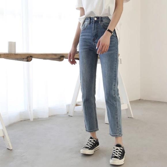 boutique Denim - 🆕 vintage wash skinny jeans high waisted
